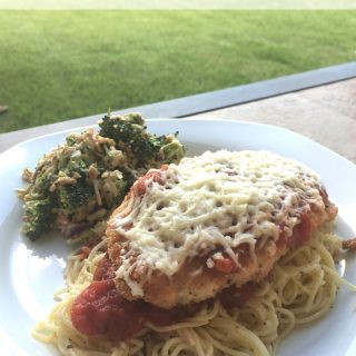 This Easy Chicken Parmesan Recipe is amazing and so simple to make at home. Y'all have to try it!