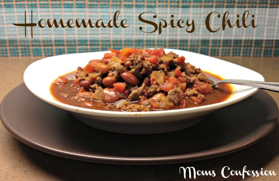 delicious homemade spicy chili