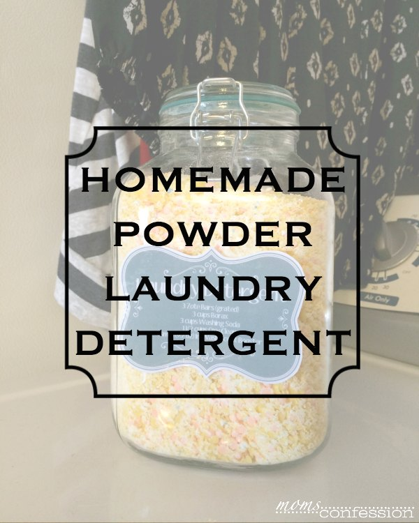 Looking for an easy homemade powder laundry detergent that gets your clothes clean? Look no further! This is the best homemade laundry detergent recipe!