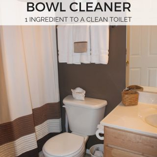 Looking for an easy homemade toilet cleaner recipe? Try this one ingredient solution that gets my toilet clean in no time while also saving me money!