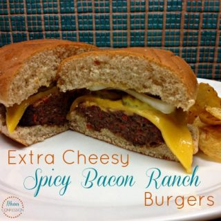 spicy bacon ranch burgers