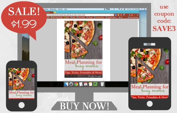 Buy Meal Planning for Busy Moms for only $1.99. Use coupon code: SAVE3. Offer expires 12/25/2014 | Moms Confession