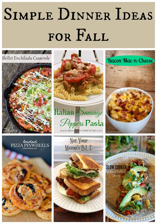 Quick and easy fall dinner recipes my web value plus youu0027ll get access to great recipe ideas forumfinder Image collections