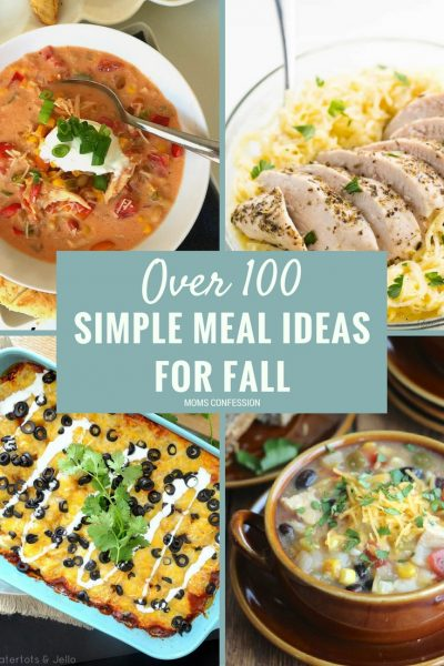 The Ultimate List of Simple Dinner Ideas for Fall