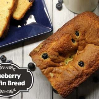 This blueberry muffin bread recipe from scratch sounds delicious!