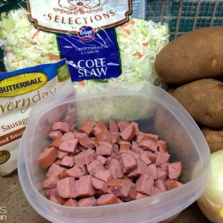 The perfect ingredients for a delicious Butterball Turkey Sausage meal.