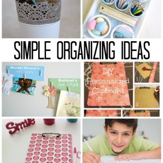 These are some seriously easy organizing ideas!