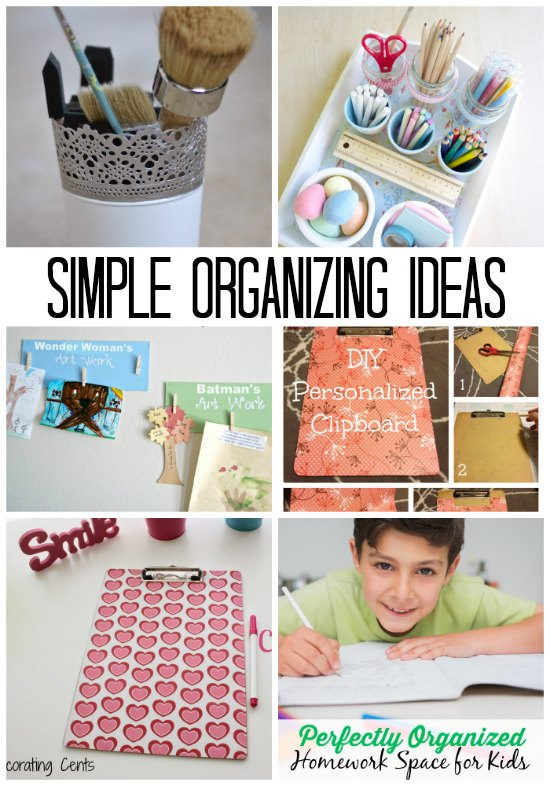 These are some seriously simple organizing ideas!