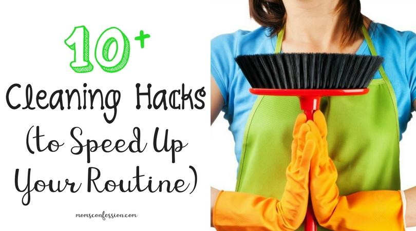 Cleaning is not something anyone wants to do. With these 10+ house cleaning hacks to speed your routine, you will have more time to enjoy a clean home again!