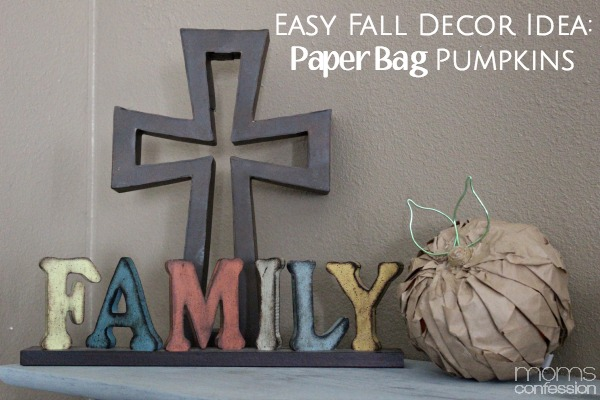 Easy Fall Decor Idea: Paper Bag Pumpkins