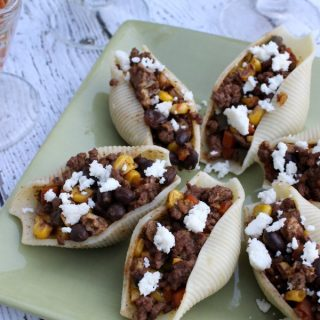 Must try! Stuffed Taco Pasta Shells and Cheese! #BarillaFiesta #WeaveMade #ad