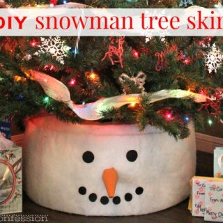 Snowman tree skirt project for Christmas | Moms Confession
