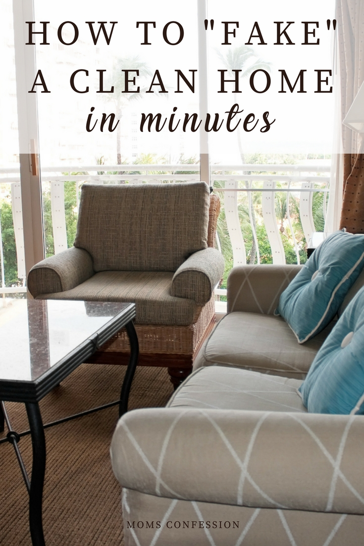 Cleaning a home takes a lot of time and effort. With these secrets you can fake a clean house and no one has to know you didn't spend hours cleaning either.