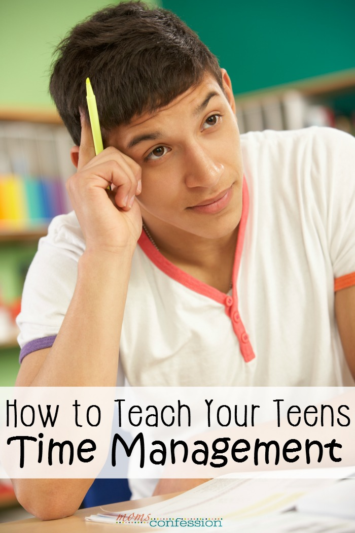 """As our kids get older, it goes from teaching them basic skills to more advanced skills, like time management that will carry them through life and make them well-adjusted, productive adults. Time management skills help them with balancing homework, social life and the """"real world"""" they will live in as an adult. Use these simple tips and ideas to teach your teen time management today so they can be successful tomorrow!"""