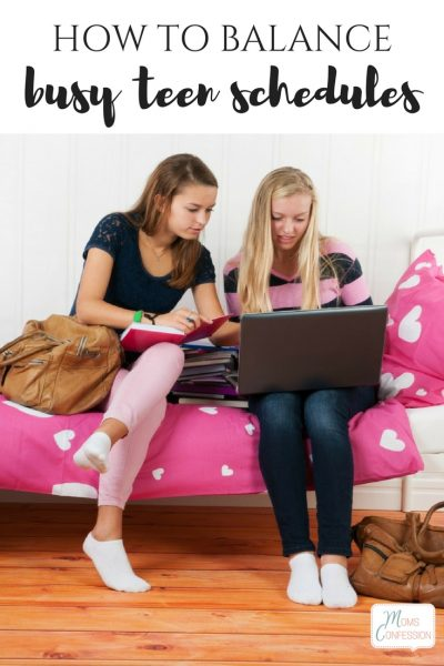 How to Balance Teen Schedules