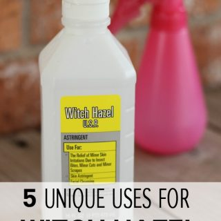 Do you have a bottle of witch hazel at home and don't know what you can use it for? Here are 5 witch hazel uses to help you find a unique use for this natural product.