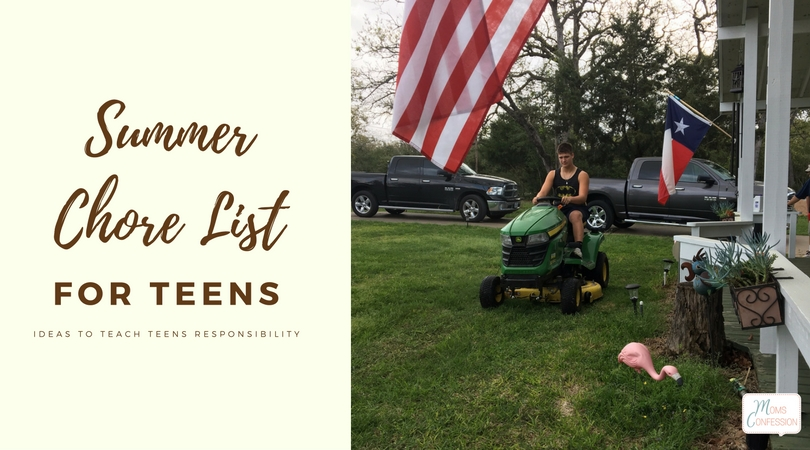 A summer chore list for teens isn't just about having help around the house, but about teaching your teenagers responsibilities. These chores for teens will help, plus there's a free summer chore schedule to print too!