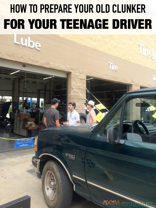 Just the thought of having a teenage driver makes my head spin, but the reality is happening soon. See how we are preparing our old clunker for our soon to be 15-year-old, ready to learn how to drive son.