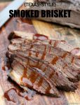 This Texas-Style Smoked Brisket recipe is flavor packed, smoked to perfection and is sure to be the hit at your next backyard barbecue. Try it today!