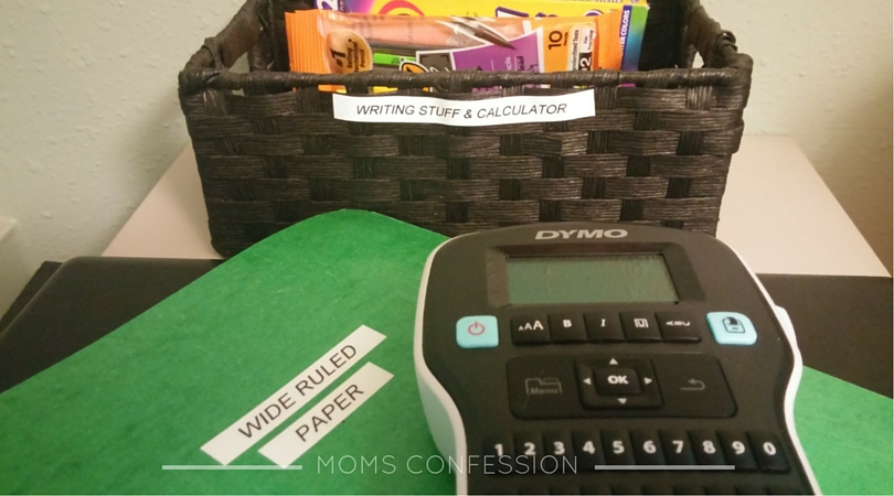 Help the kids know where everything is when they need it with this homework station using the DYMO LabelManager 160 .