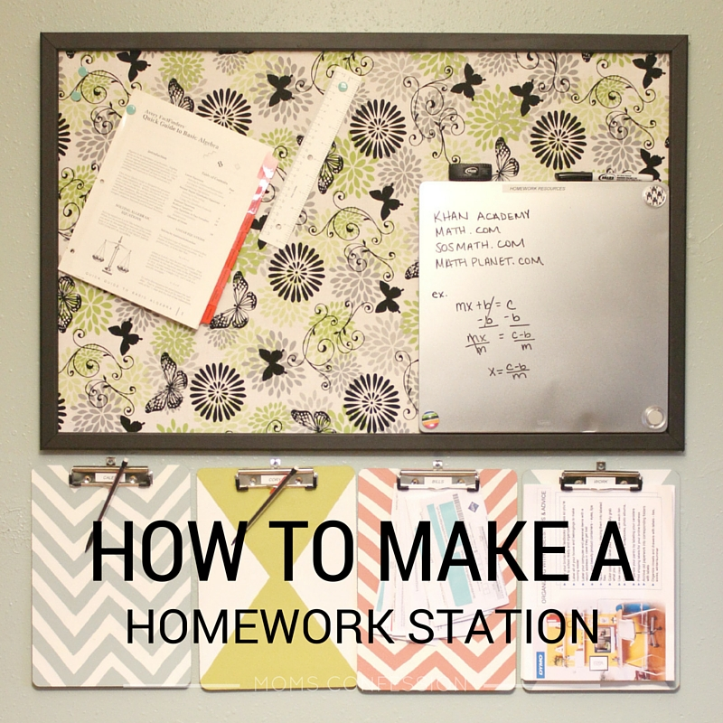 Learn how to create a functional homework station to make afterschool easier on the kids and you too!