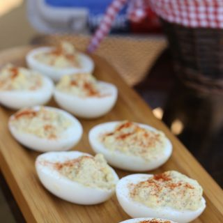 These Simple Deviled Eggs are amazing and one of our favorite Thanksgiving side dishes! Our boys love to help make these, but they love to eat them even more!