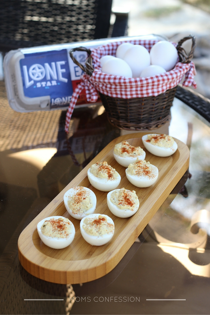 One of our favorite Thanksgiving side dishes to make is Simple Deviled Eggs. My boys LOVE to help me make these, but they love to eat them even more!