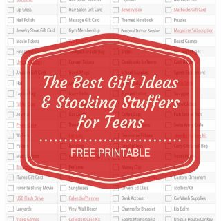 Free printable with 100 of the best gift ideas & stocking stuffers for teens this holiday season. If you have teens, you need this printable in your life!
