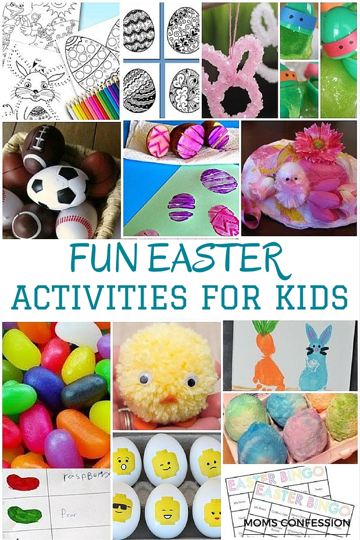 Easter is sneaking up and will be here before we know it! Make memories with your family and have fun with these easter activities for kids of all ages!