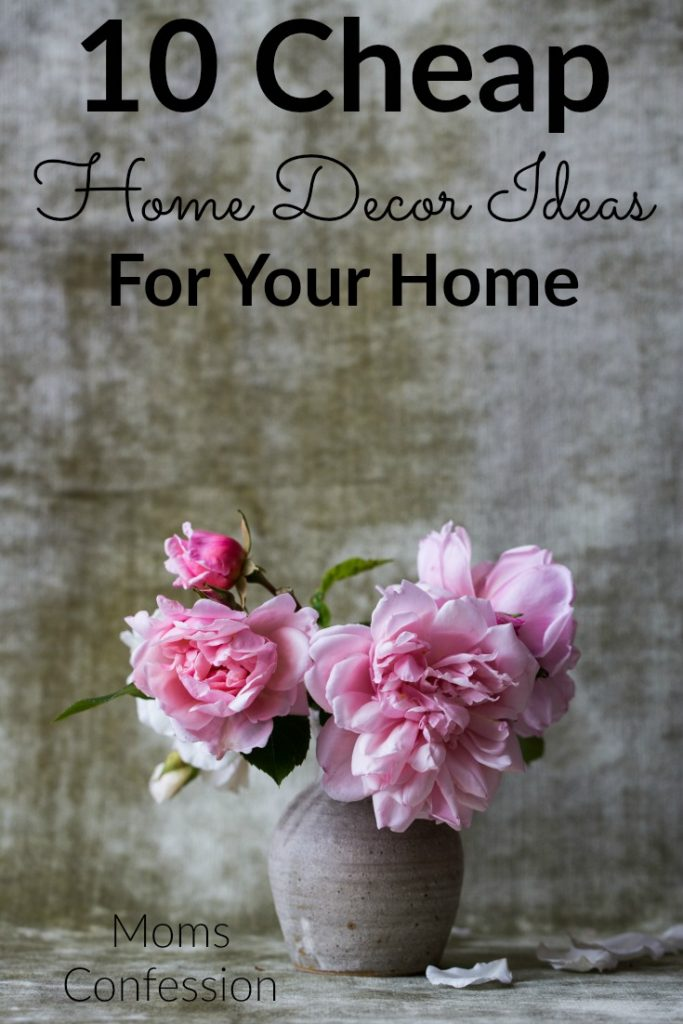 Cheap Home Decor Ideas like these are the perfect solutions to your budget! Decorate your home on a budget with unique and fun methods that stretch funds!