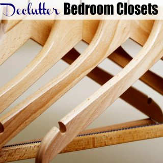 Declutter Bedroom Closets with our great 7 step process! A bedroom transformation is easy when you begin with this simple formula to clean and organize!
