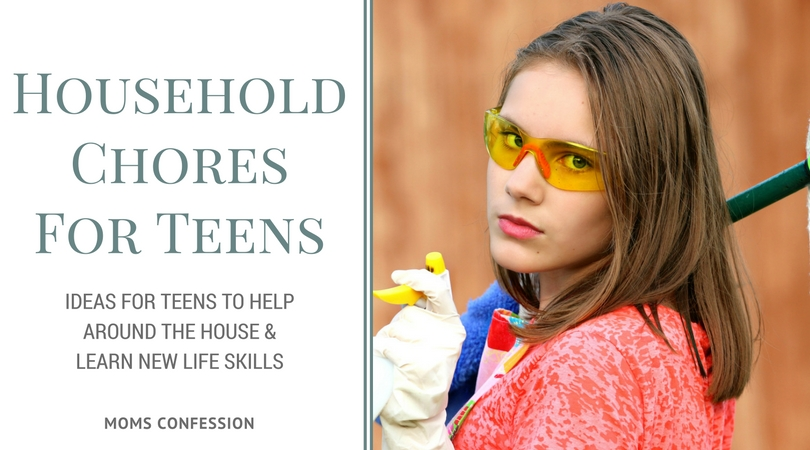 """Household Chores like these Your Teens Should Be Doing will keep the kids busy during summer break, and help you stay on top of household organization!"""""""