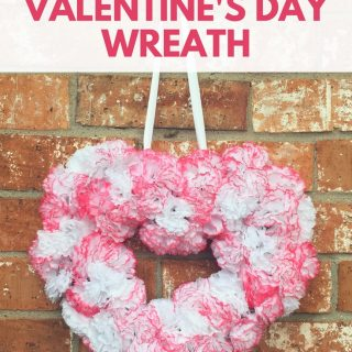 Valentine's Day Wreath: Make our Simple & Elegant Valentine's Day Wreath with just a few supplies! This is a graceful addition to any holiday decor!