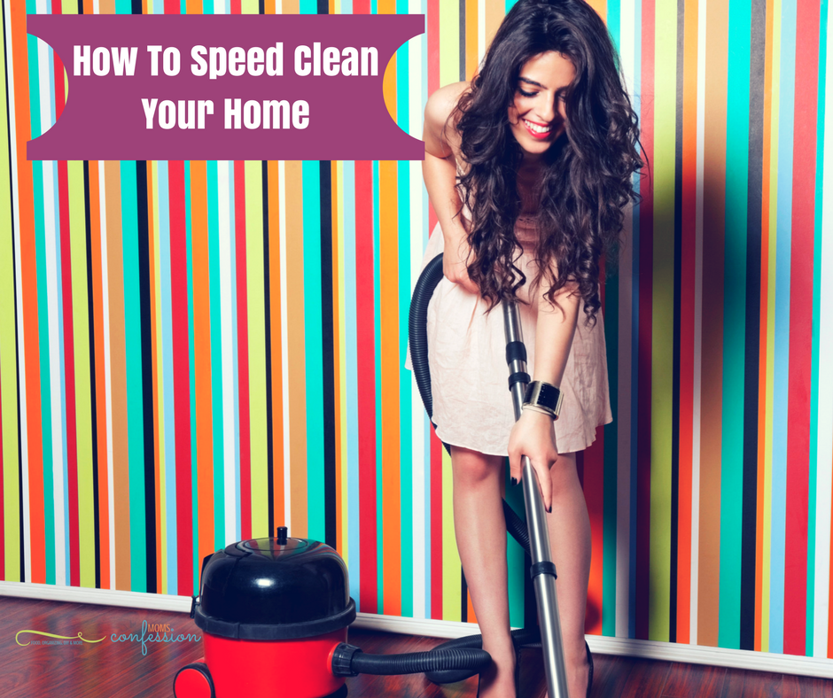 To Speed Clean is the best way to spruce up your home! Check out our tips for How To Speed Clean Your Home to transform it before company arrives!