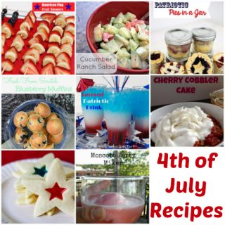 Great menu plan idea with awesome 4th of July Recipes