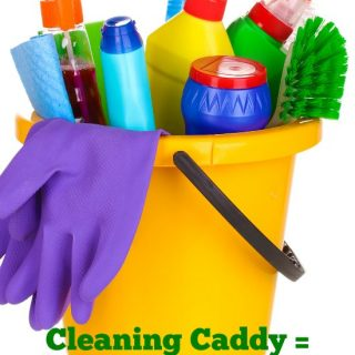 """Before discovering how much my cleaning caddy has become a lifesaver, I found myself in the """"I don't like to clean"""" category. Now cleaning is a breeze! See how a cleaning caddy can help you save time and keep your home clean! - MomsConfession.com"""