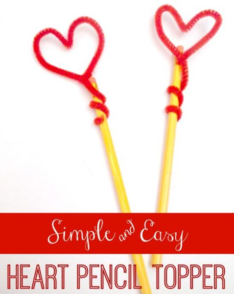 Heart Shaped Pencil Toppers for Valentine's Day