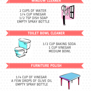 Easy homemade cleaner recipes that are great for the environment and simple to make!