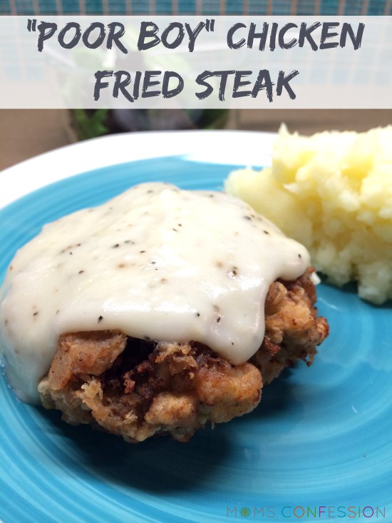 Poor Boy Chicken Fried Steak #BlogFilmFood