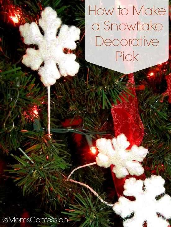 How to Make a Snowflake Decorative Pick
