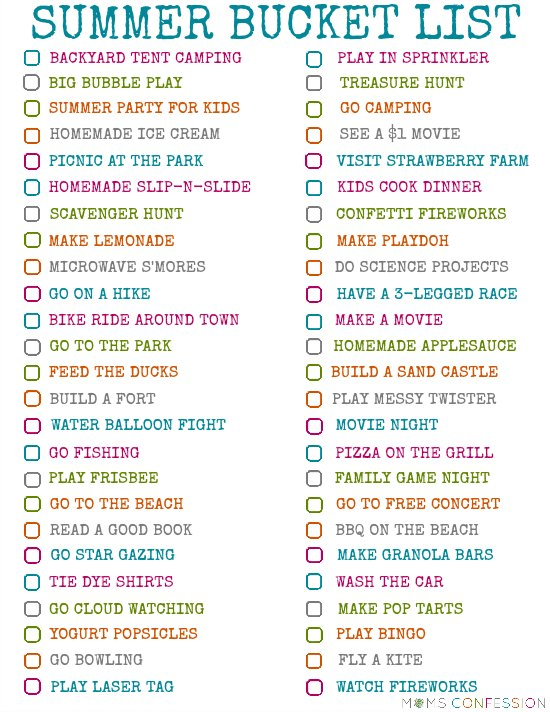 Summer is here and now is the time to start planning some family fun in the sun! Add these fun ideas for your summer bucket list and print your printable too!