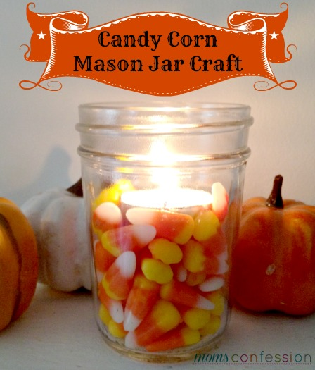 candy corn crafts with mason jars