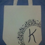 Easy Tutorials ~ Hand Painted Or Rhinestone Canvas Tote Bag