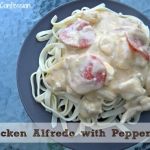 Homemade Chicken Alfredo Recipe with Pepperoni