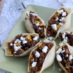 Southwest Tacos Stuffed Pasta Shells with Queso Fresco Cheese