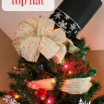 The Best DIY Snowman Tree Topper for the Holiday Season