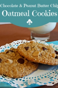 Chocolate Peanut Butter Oatmeal Cookies