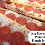 Homemade Pizza On French Bread