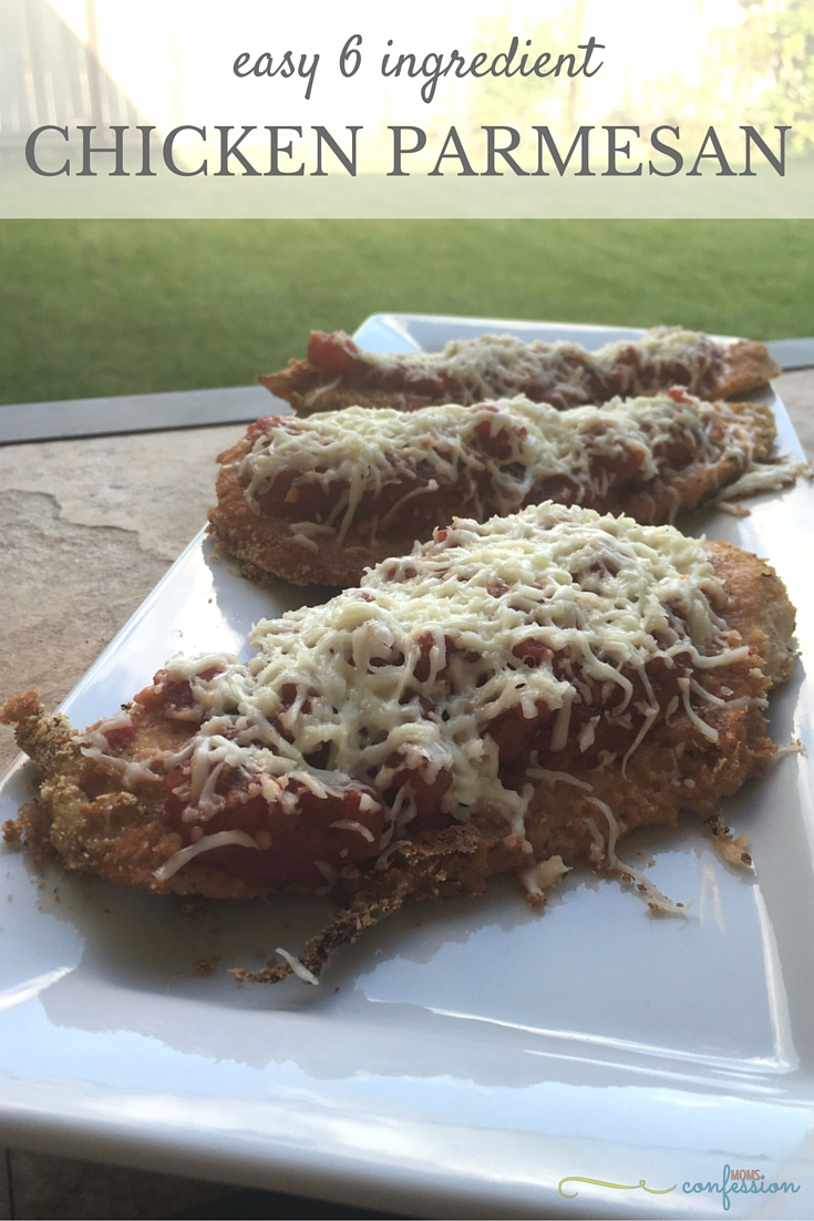 Six Ingredient Chicken Parmesan