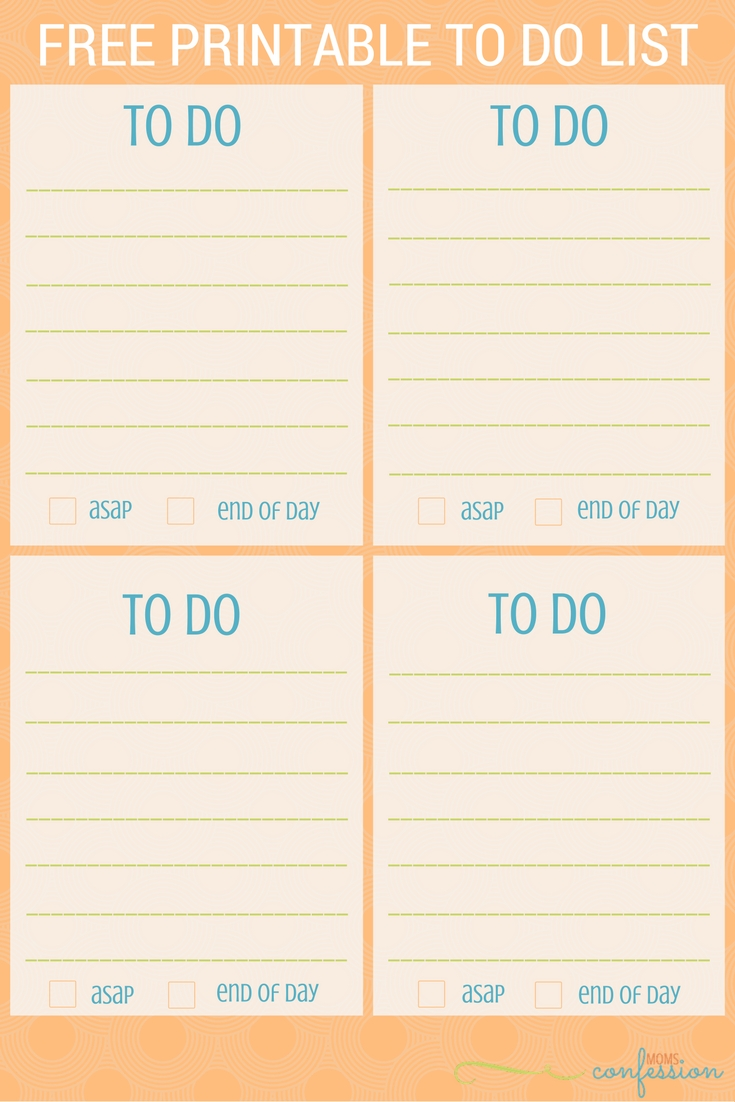 Free Printable: To Do List